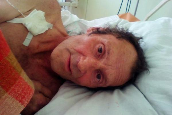 Мужчина оказался в больнице в начале сентября