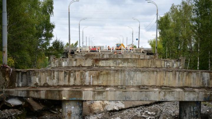 В Ярославле наполовину разобрали Добрынинский мост