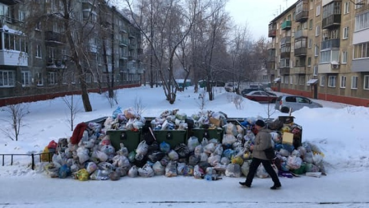 На праздниках Новосибирск утонул в мусоре
