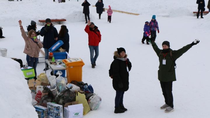 «Люди к этому готовы»: вАрхангельске проходит акция по сбору вторсырья