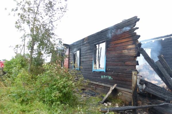 Убийство и пожар произошли 10 сентября 2017 года в поселке Шелашский