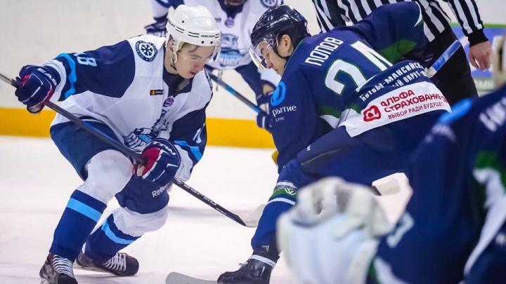 Хоккей: «Сибирские снайперы» уступили «Мамонтам Югры»