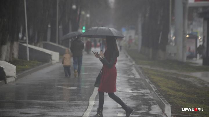 Лету конец: в Башкирию пришли затяжные дожди и ураганные ветра