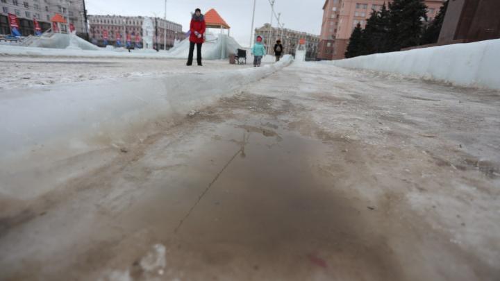Власти объявили о закрытии всех горок в главном ледовом городке Челябинска