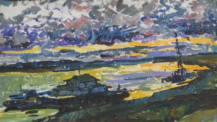 Иртыш, горы и «Зелёный остров»: смотрим на картины художника со зрением -14 диоптрий