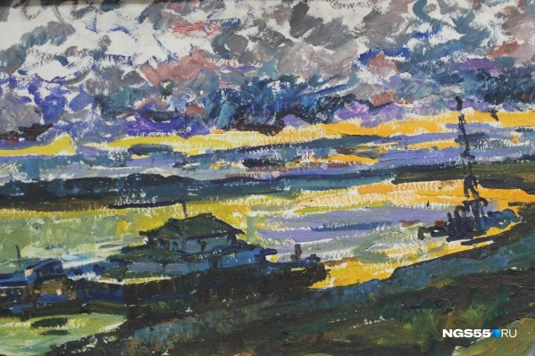 Картина «Закат над Иртышом»