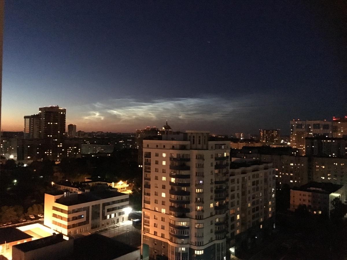 Облако вформе НЛО нависло внебе над Новосибирском