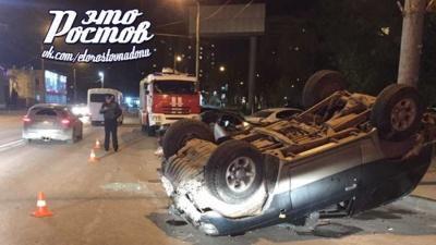 В Ростове пьяный водитель устроил тройное ДТП: есть раненые