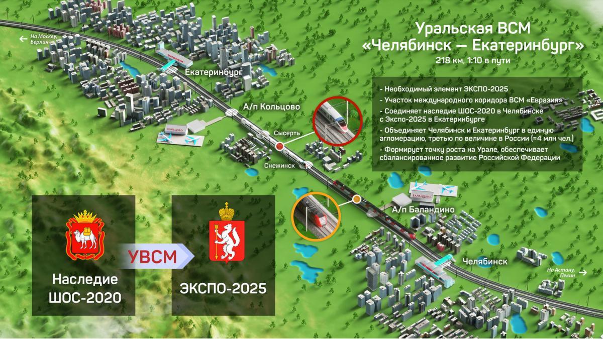 ВСМ должна стать стимулом для Челябинска и Екатеринбурга