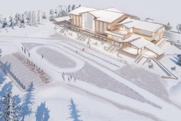 Возможно, этот центр заменит существующую лыжную базу на улице Барнаульской