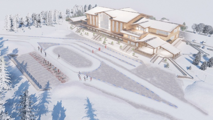 Тюменский архитектор разработал проект нового биатлонного центра. Показываем, что из этого вышло