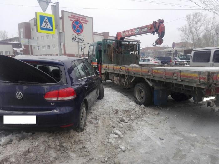 Авария случилась на улице Станционной