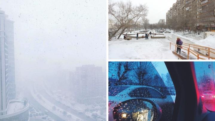 Как Тюмень засыпало снегом. Замерзающие горожане, уборка улиц и пробки на дорогах