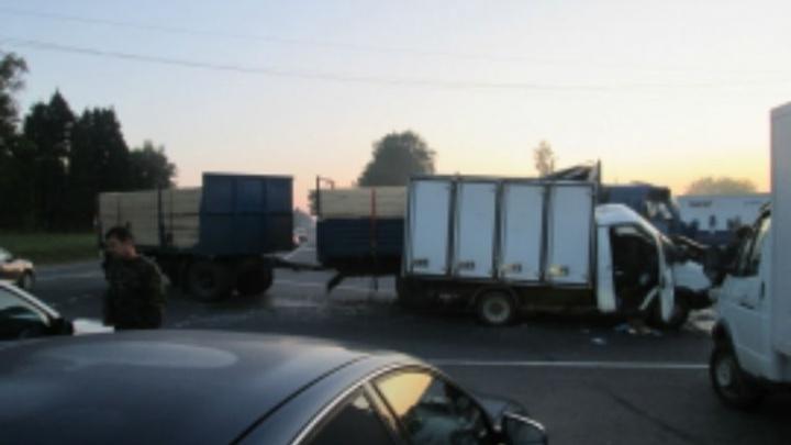 Страшное ДТП с двумя грузовиками на трассе М-8: водитель погиб на дороге