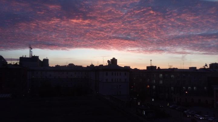 Фото: новосибирцев восхитил красивый рассвет над городом