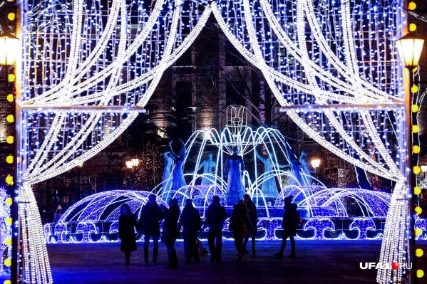 Власти Уфы подготовили развлекательную программу на каждый день новогодних каникул