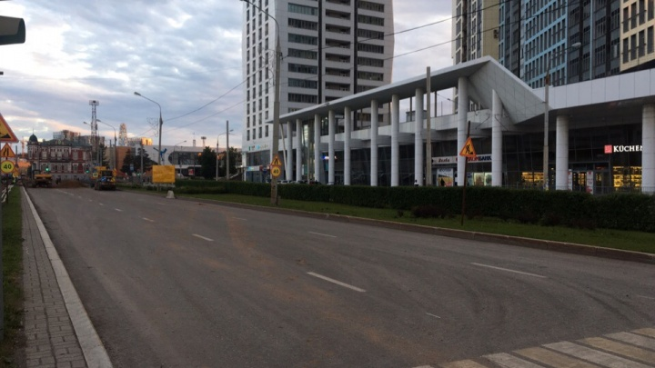 В Перми на два дня закрыли правый поворот с улицы Революции на Сибирскую