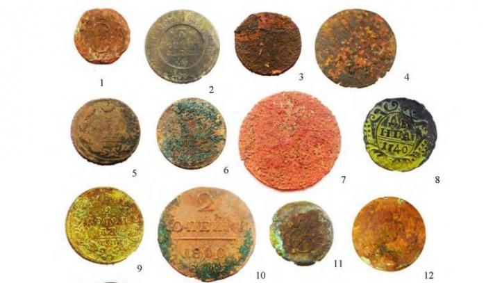 Такие монеты нашли на улице Вайнера