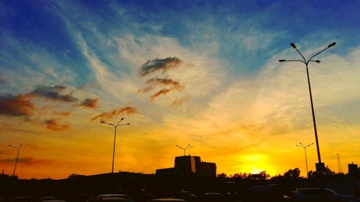 Капризы погоды: после мощной грозы над Екатеринбургом раскинулся живописный закат