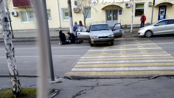 В Кургане скончалась пенсионерка, сбитая накануне на улице Красина