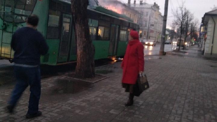 В Рыбинске сгорел троллейбус, доставшийся городу от Татарстана
