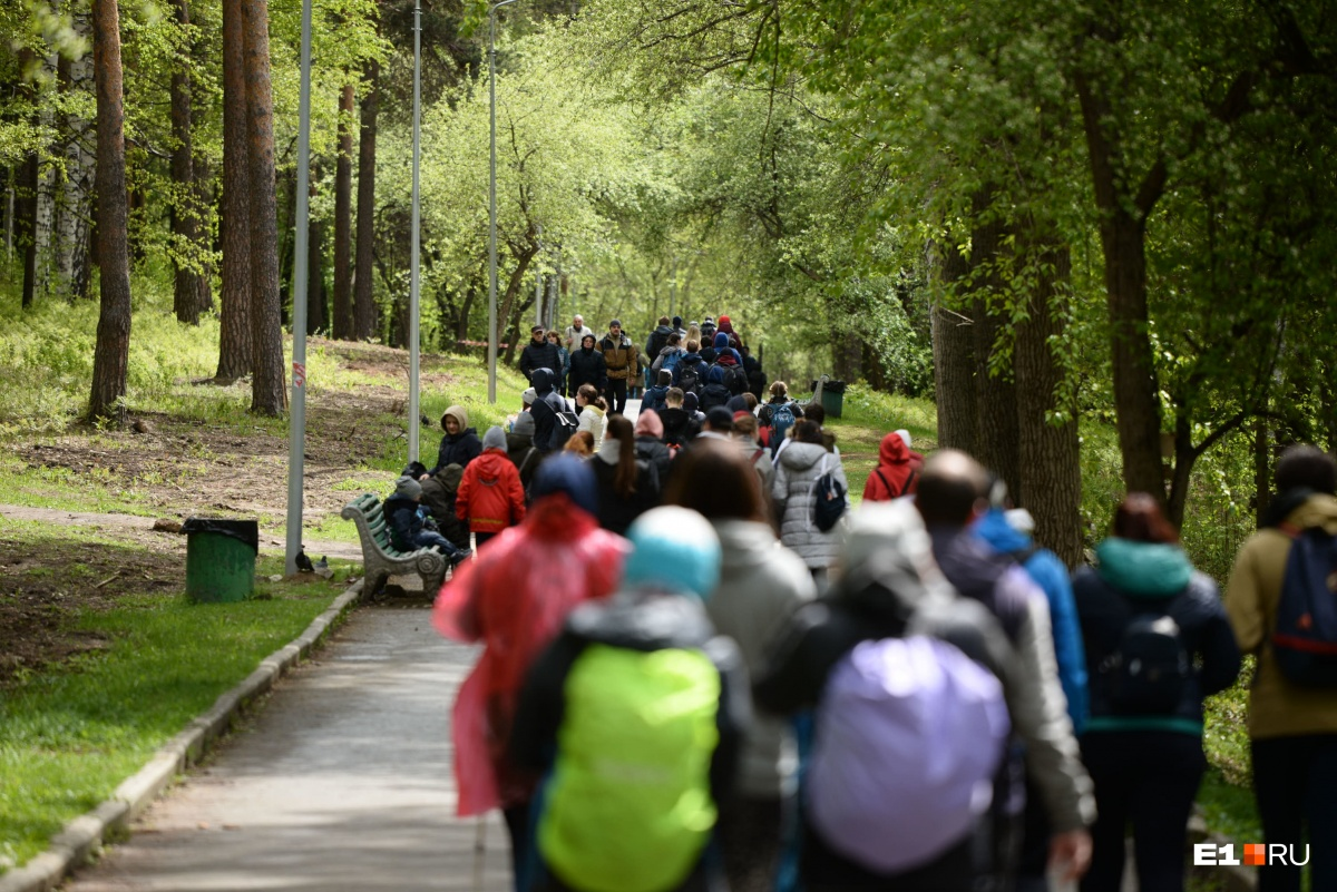 Вдоль маршрутов участники собрали мусор