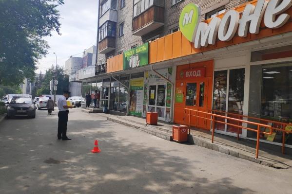 ДТП произошло на парковке перед магазином «Монетка»