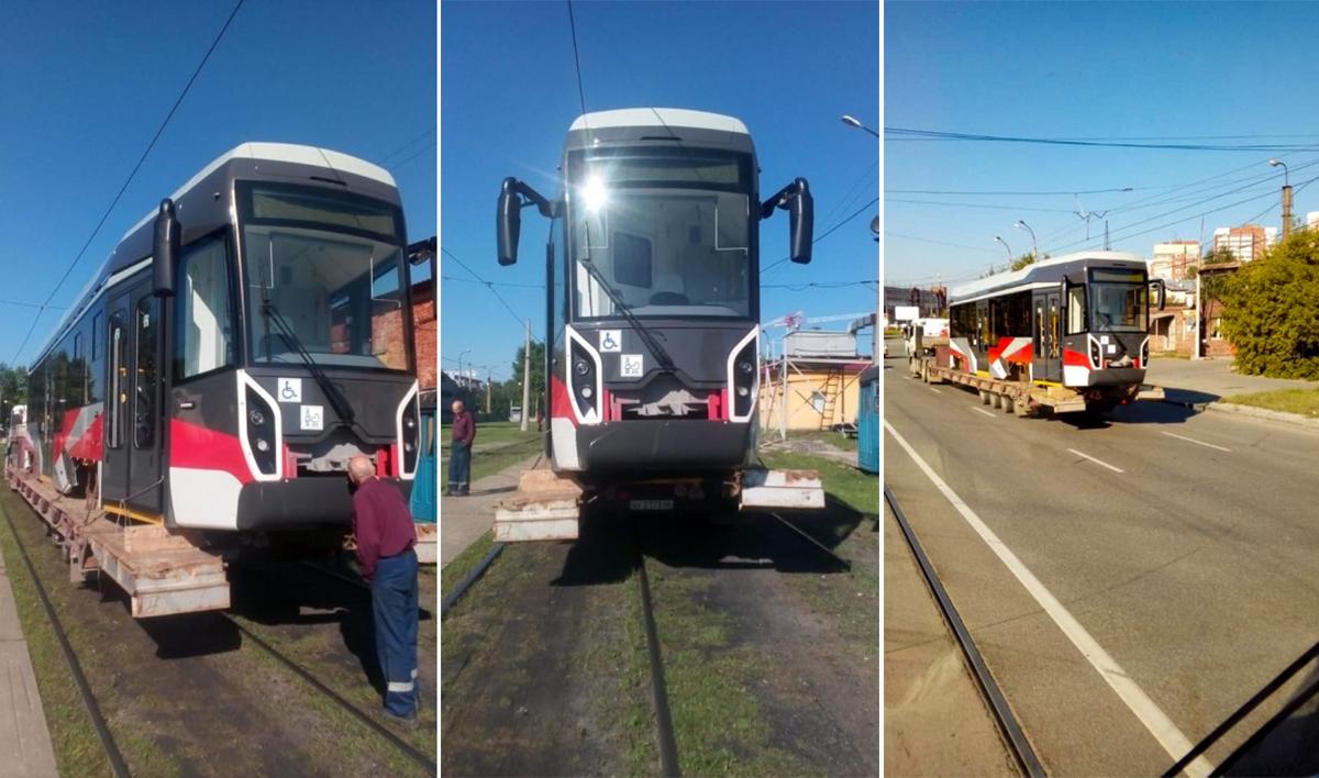 В трамвае 71-412 используются элементы «айфона на колёсах», который тоже сделали на УВЗ, —  трамвая R1