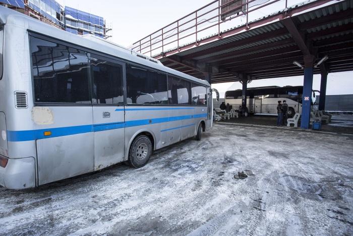 На движение междугородних автобусов повлияли сильные морозы