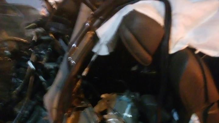 На Московском проспекте BMW влетел в отбойник: ДТП глазами очевидцев