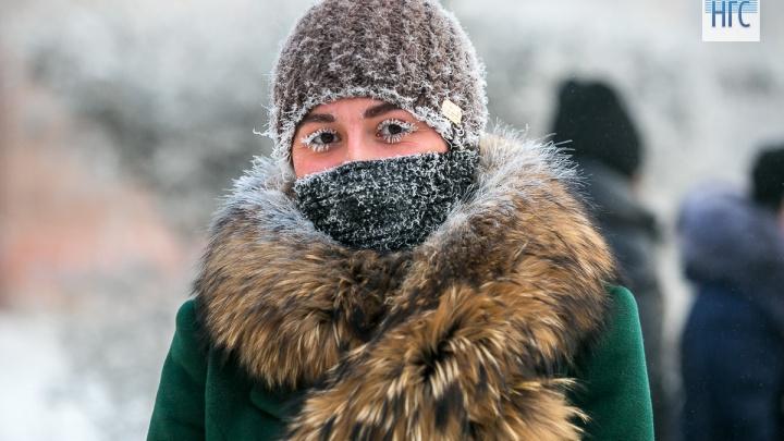 Ночью в Красноярске ожидается первый сильный мороз