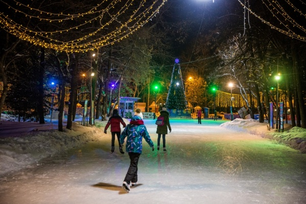 Каток в Центральном парке прошлой зимой