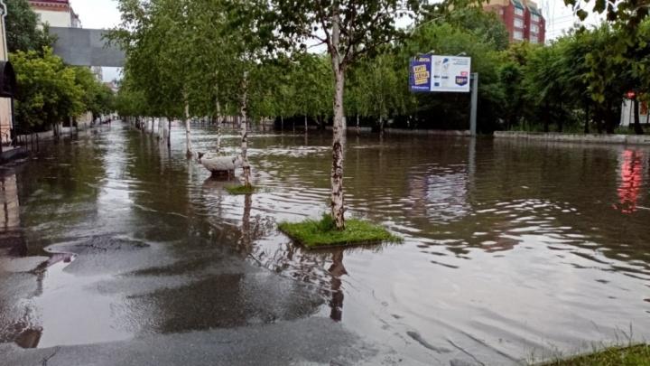В Кургане ливнёвку частично обустроят, но потопы на улицах после дождей не исчезнут