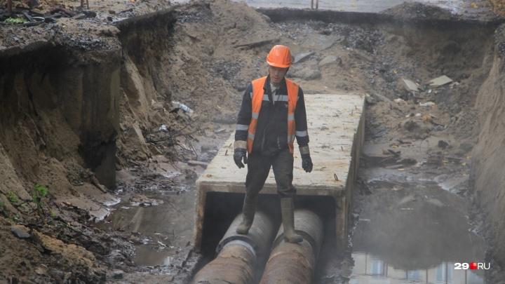 Улицу Розы Люксембург в Архангельске частично перекроют из-за ремонта теплотрассы