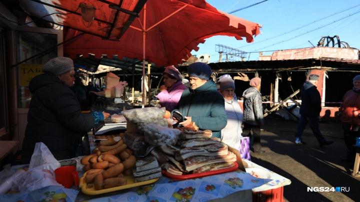 Фото: рынок«Тотем» открылся спустя несколько часов после пожара