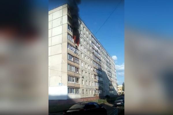 Пожарные уже прибыли на место происшествия