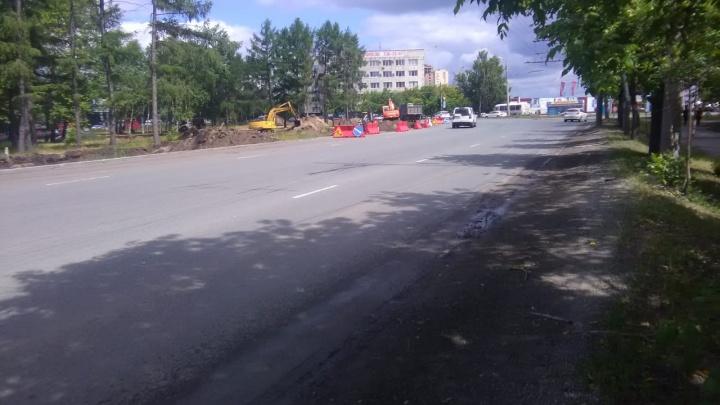 «Выставили блоки на проезжей части»: на оживлённом перекрёстке в Челябинске начали дорожные работы