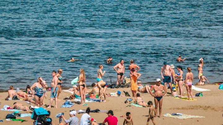В Самаре начал работать пляж у монумента «Ладья»