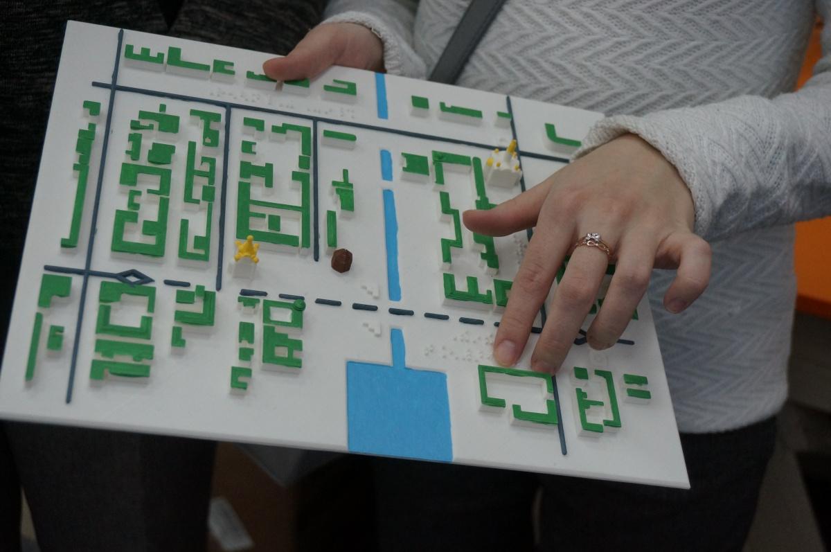 На карте изображен исторический центр Екатеринбурга