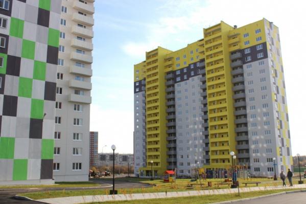 Новый микрорайон строится, чтобы переселить туда людей, чьи дома оказались в зоне провала