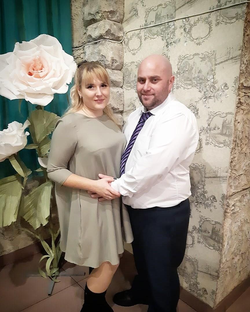 Алина Ваулина с супругом