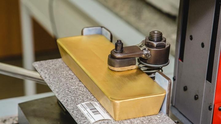 В Красноярском крае резко выросло производство золотых слитков