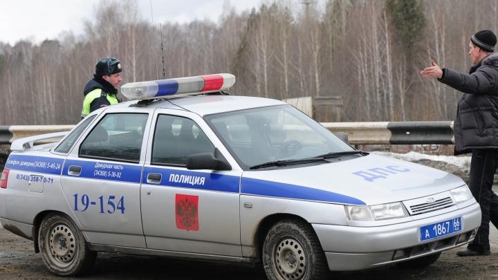 Под Режом пьяный водитель влетел в полицейскую машину