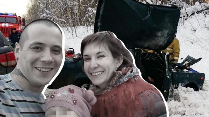 Девочка, родители которой погибли в ДТП на М-5, умерла, не приходя в сознание