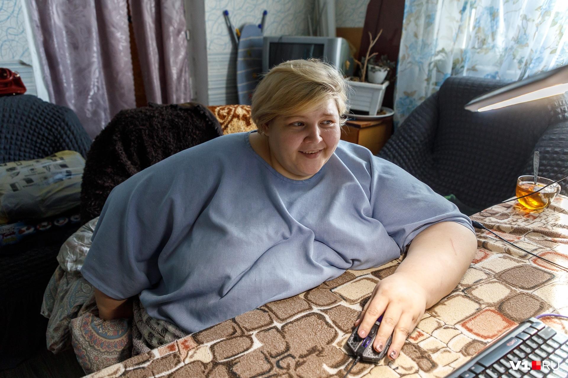 Женщина мечтает похудеть как минимум до 90 килограммов