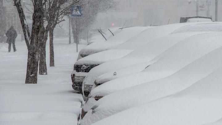 Всю ночь на улице мело: Волгоград укутало третьим за зиму снегом