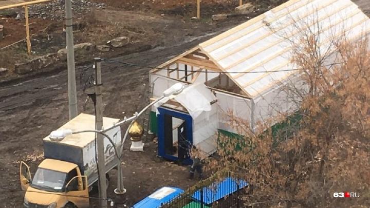«Найдите купол на фото»: самарцы сообщили о строительстве церкви у Ботанического сада