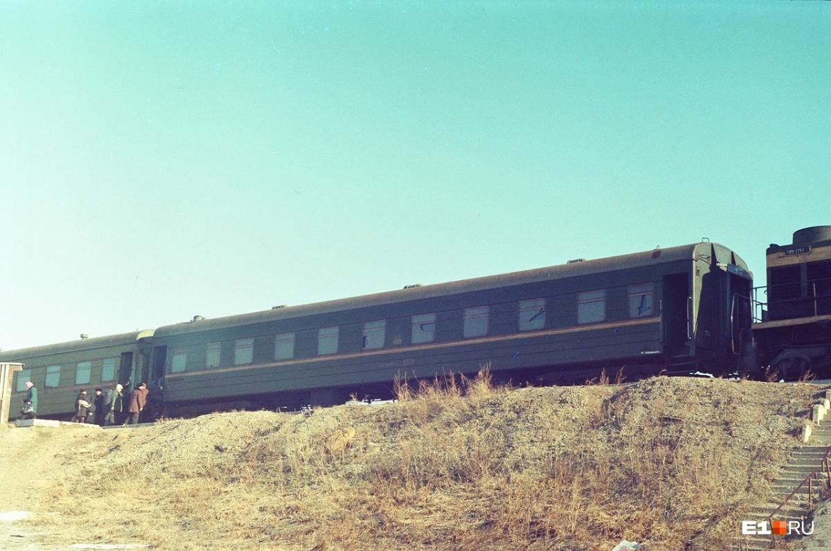 Апрель 1996 года. На станции в Пышме