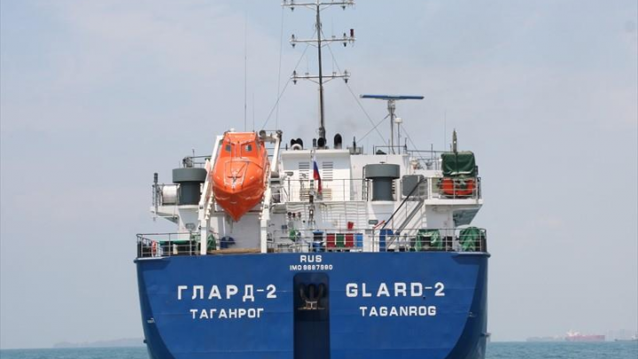 Танкер, вышедший из ростовского порта, столкнулся с турецкой лодкой