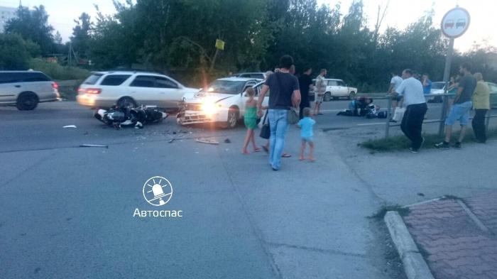 Место аварии на ул. Балтийской